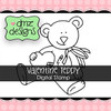 Valentine Teddy with Sentiment Digital Stamp
