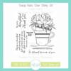 Teacup Roses Clear Stamp Set