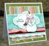 Smiley Snowman Digital Stamp