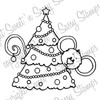 Cocoa's Christmas Tree Digital Stamp