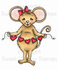 Melanie Mouse Colored Digital Stamp