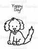 Yappy Day Digital Stamp