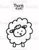 Thank Ewe Digital Stamp