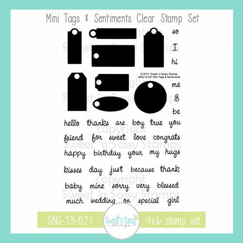 Mini Tags & Sentiments Clear Stamp Set