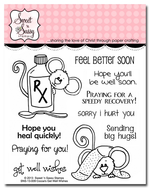 Cocoa's Get Well Wishes Clear Stamp Set