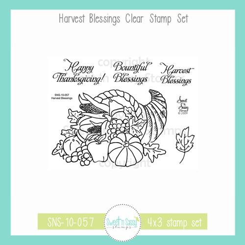 Harvest Blessings Clear Stamp Set