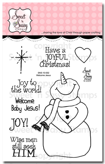 Welcome Jesus Clear Stamp Set