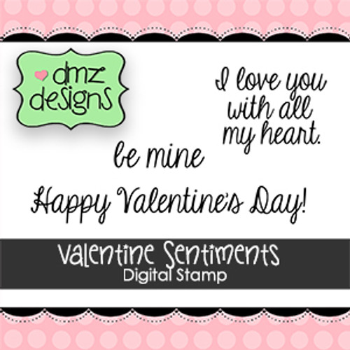 Valentine Sentiments Digital Stamp Set