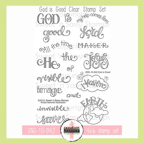 Creative Worship: God is Good Clear Stamp Set