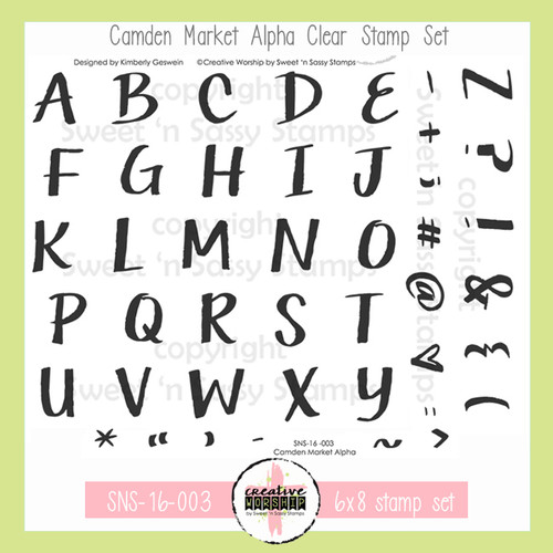 Creative Worship: Camden Market Alphabet Clear Stamp Set