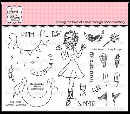 Summer Fun Winnie Clear Stamp Set