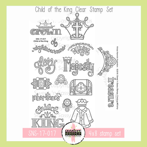 Creative Worship: Child of the King Clear Stamp Set