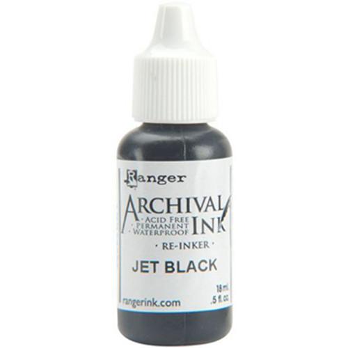 Archival Jet Black Re-inker .5oz
