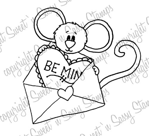 Be Mine Cocoa Digital Stamp