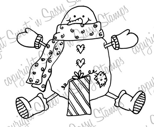 A Gift for Snowman Digital Stamp