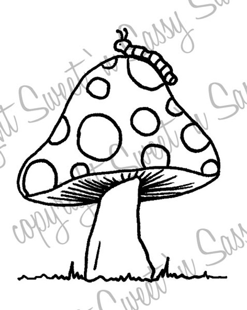 Toadstool Digital Stamp