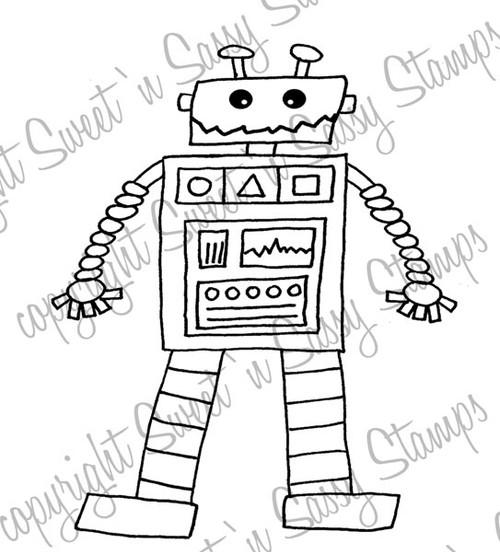 Toy Robot Digital Stamp