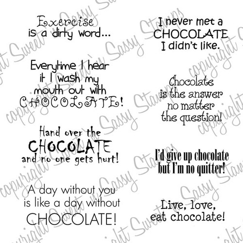 Chocolate Sentiments Digital Stamp