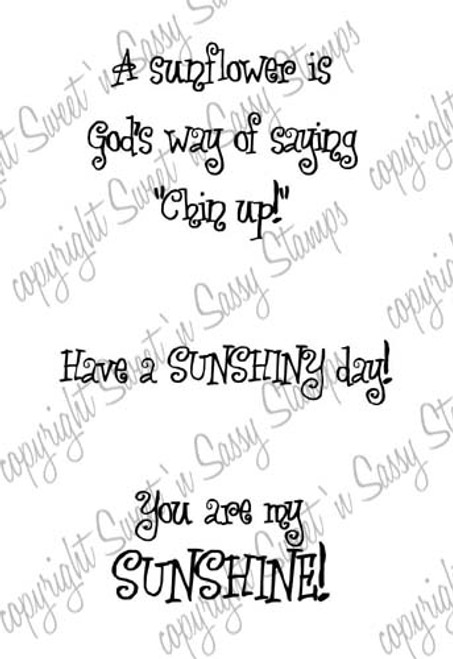 Sunflower Sentiments Digital Stamp