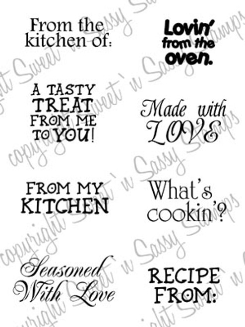 Kitchen Sentiments Digital Stamp