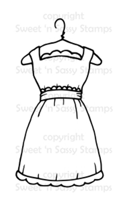 Party Dress Digital Stamp