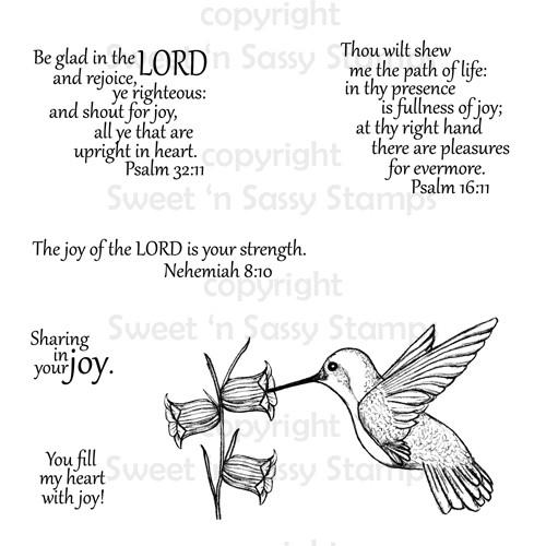 Hummingbird with Scripture Digital Stamp