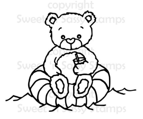 Rhubarb Enjoys the Pool Digital Stamp