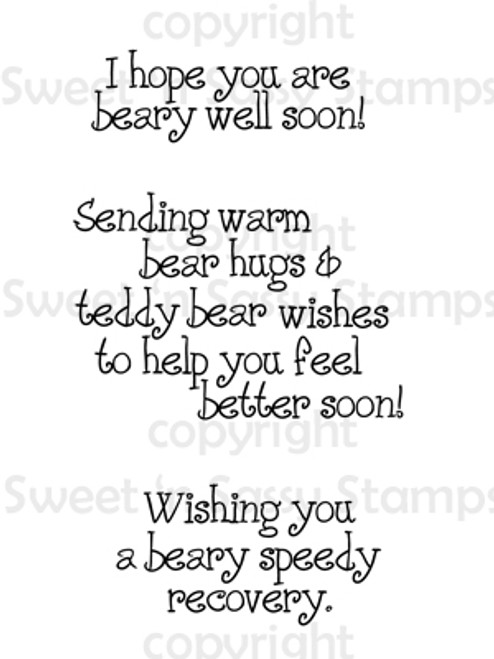 Bear Get Well Wishes Digital Stamp