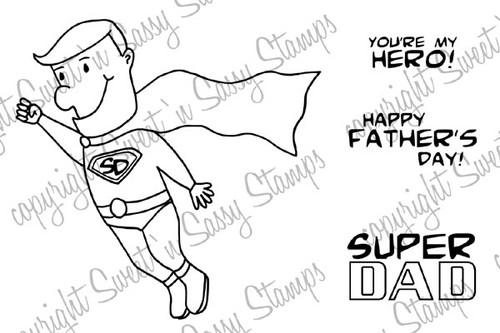 Super Dad Digi Stamp
