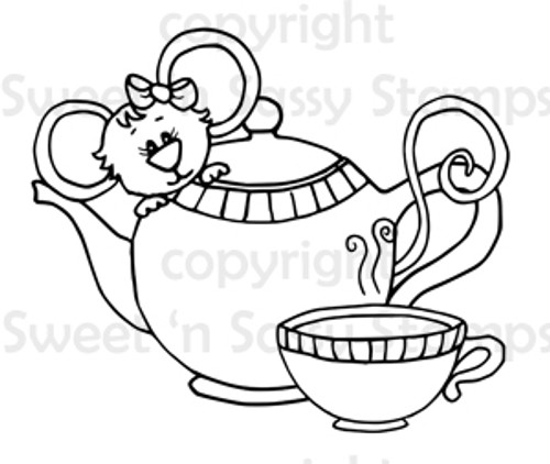 Cookie's Tea Digital Stamp