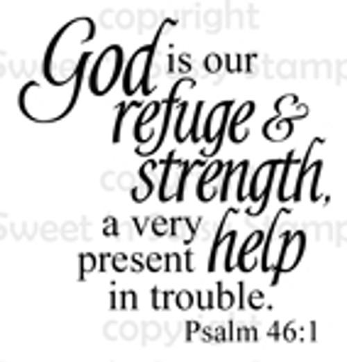 Psalm 46:1 Digital Stamp