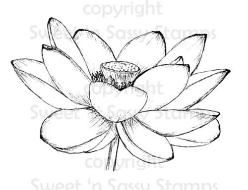 Lotus Flower Digital Stamp