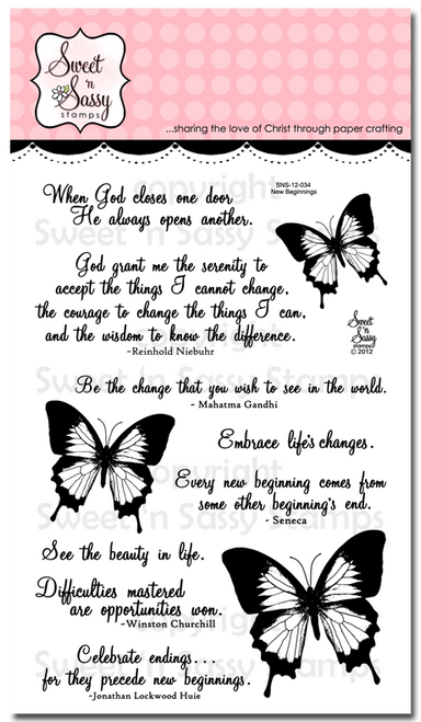 New Beginnings Clear Stamp Set