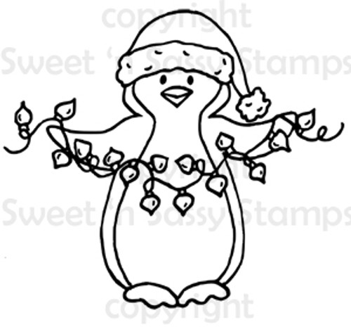 Pippin's Christmas Lights Digital Stamp