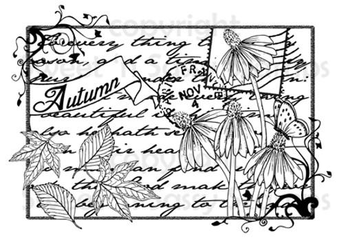 Autumn Collage Digital Stamp