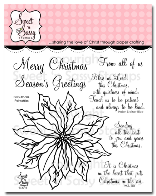Poinsettia Clear Stamp Set