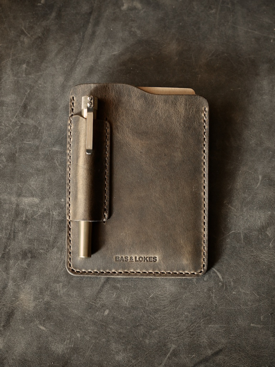 """Dante"" Brown Oil Tan Handmade Leather Notebook Sleeve"