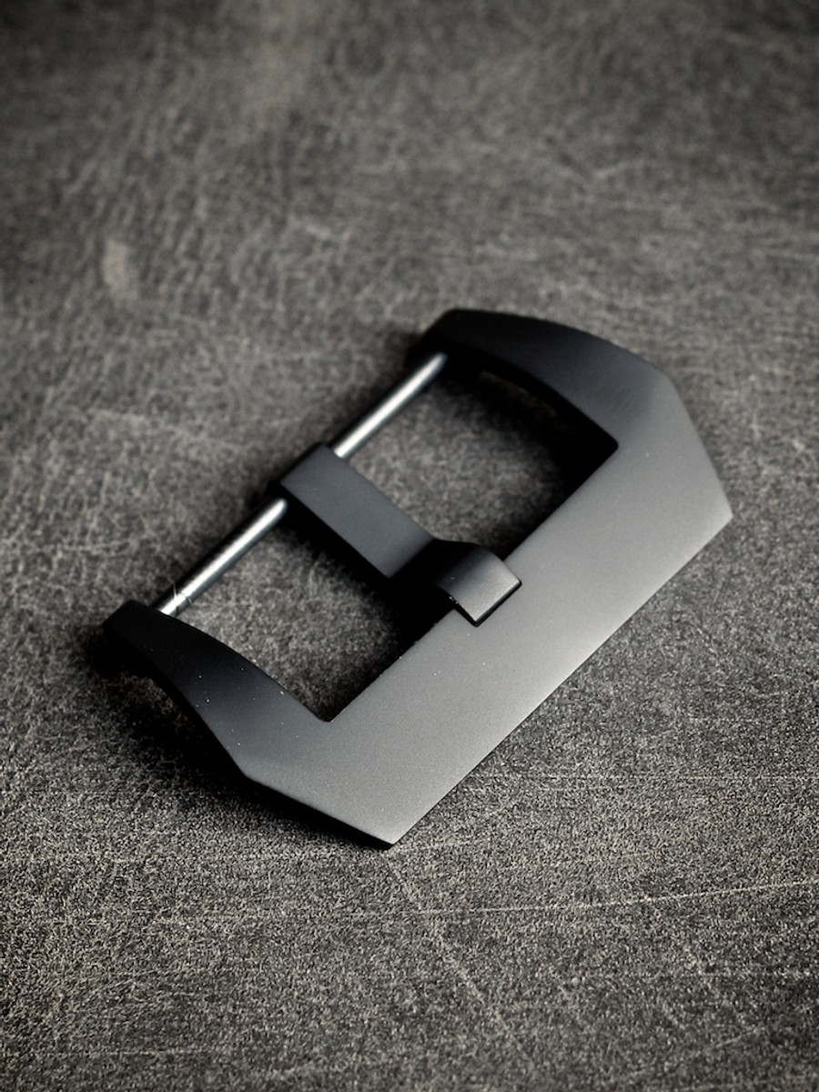 Matte Black PVD Screw-In Pre-V Steel Watch Buckle