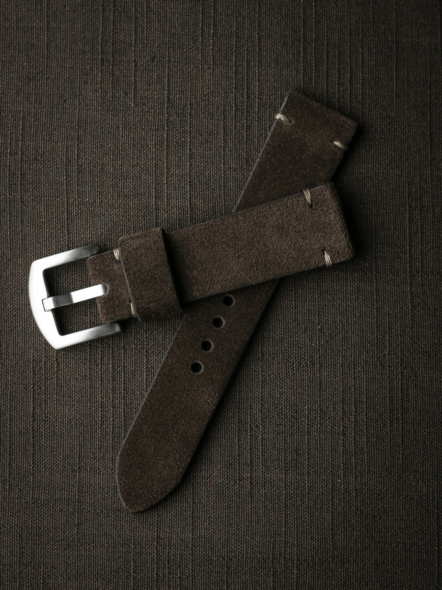 """Remington"" Dark Brown Suede Watch Strap"