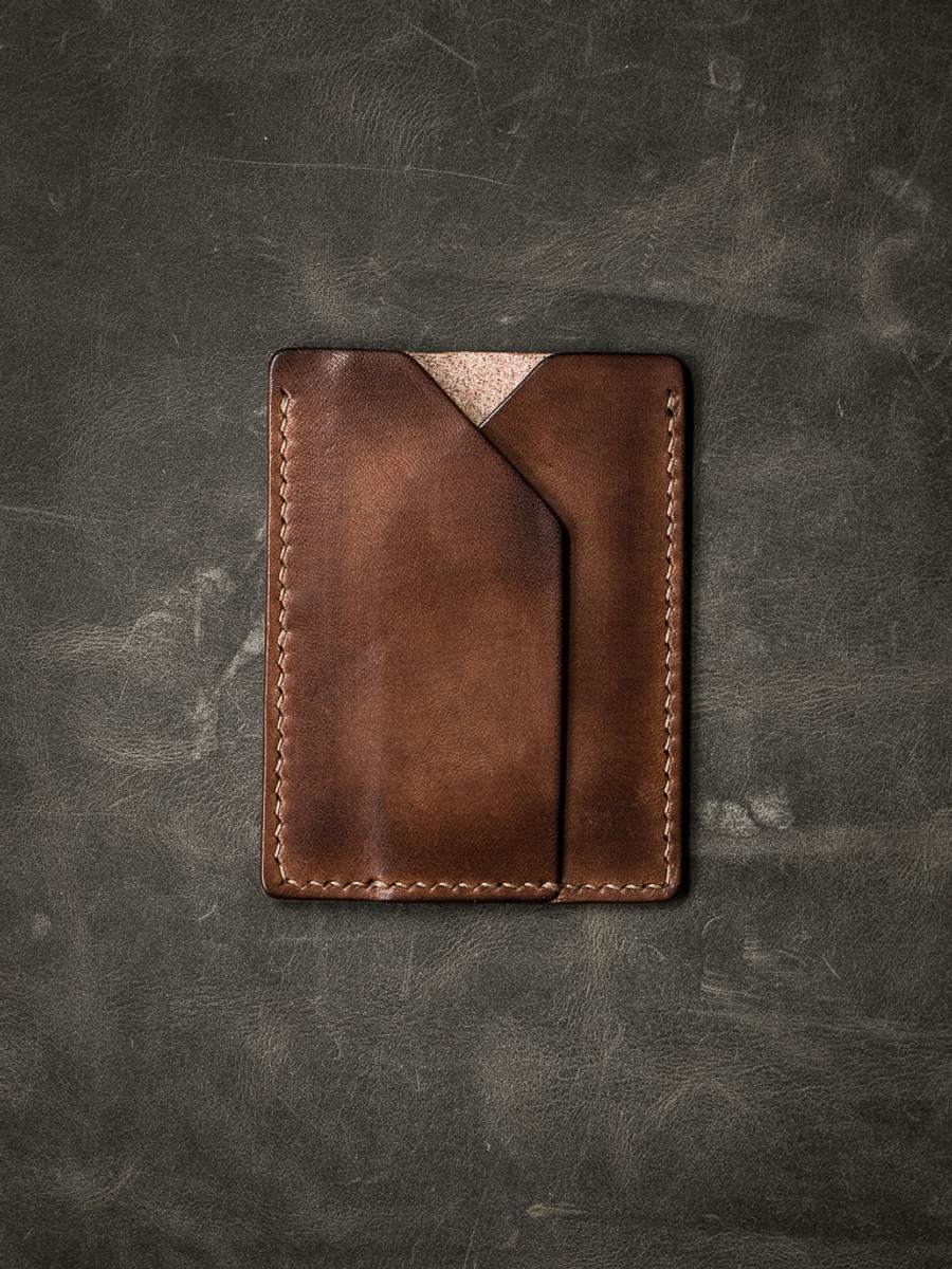 """Rex"" Russet Vintage Tan Leather Slim Wallet"
