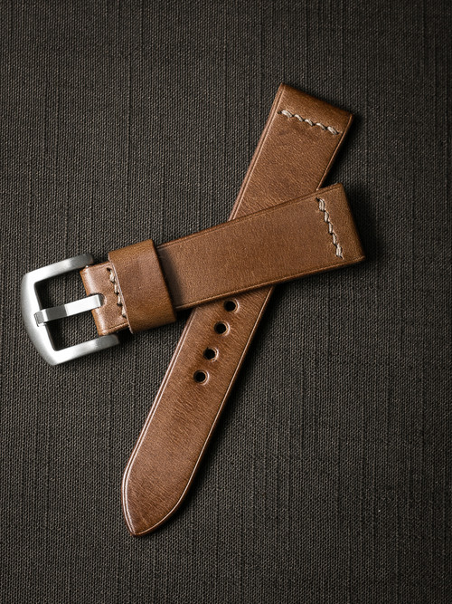 """Salem"" Whiskey Leather Watch Strap"