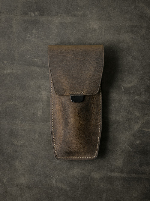 """Kingsford"" Brown Oil tan Leather Watch Pouch"