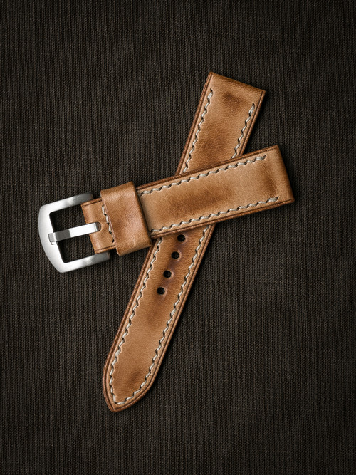 """Axel""  Natural Vintage  Leather Watch Strap"
