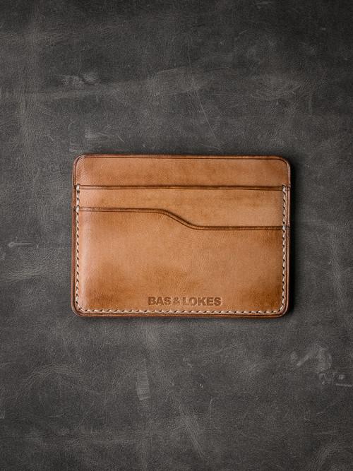"""""""Ford v2"""" Natural Vintage Tan Slim Leather Wallet"""