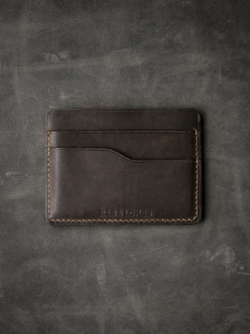 """Ford v2"" Dark Brown Slim Leather Wallet"