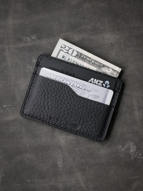 """""""Ford v2"""" Textured Black Slim Leather Wallet"""