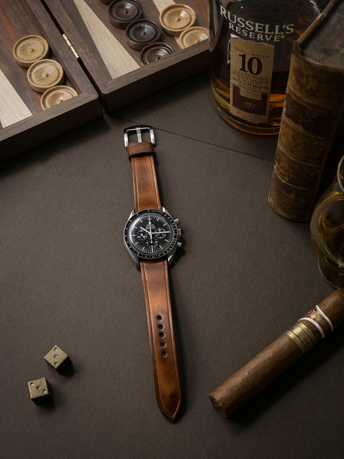 """""""Digby"""" Vintage Bourbon Handcrafted Leather Watch Strap"""