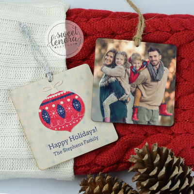 Custom Wood Photo Ornament
