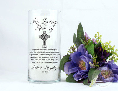Irish Blessing Personalized Memorial Vase
