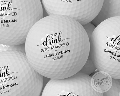 Eat Drink Be Merry Personalized Golf Balls